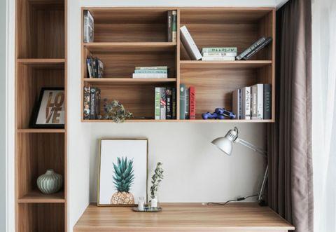 书房书桌北欧风格装饰图片