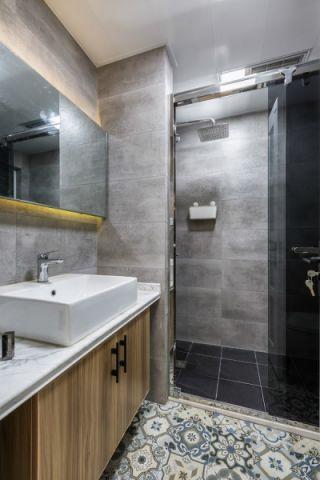 卫生间背景墙北欧风格装饰设计图片