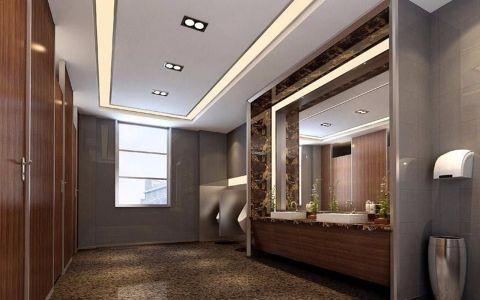 500平方办公室现代简约风格写字楼装修效果图