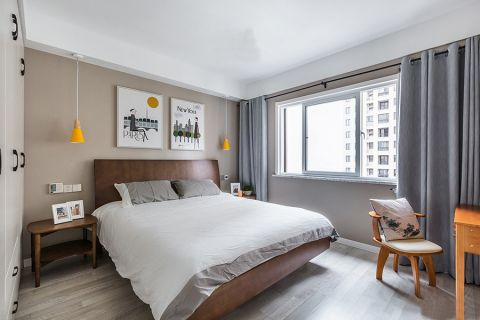 卧室窗帘简约风格装潢效果图