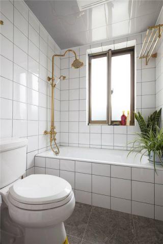 卫生间背景墙混搭风格装修效果图