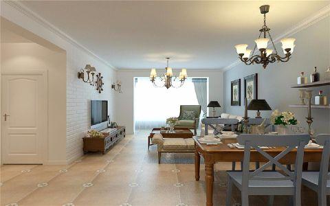 9.3万预算88平米三室两厅装修效果图