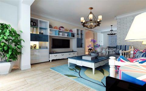 客厅茶几地中海风格装潢效果图