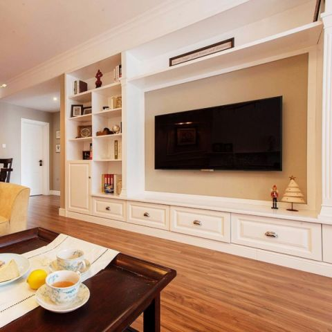 70平米美式风格两居室装修效果图