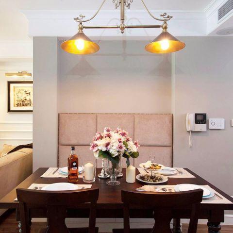 餐厅背景墙美式风格装修设计图片
