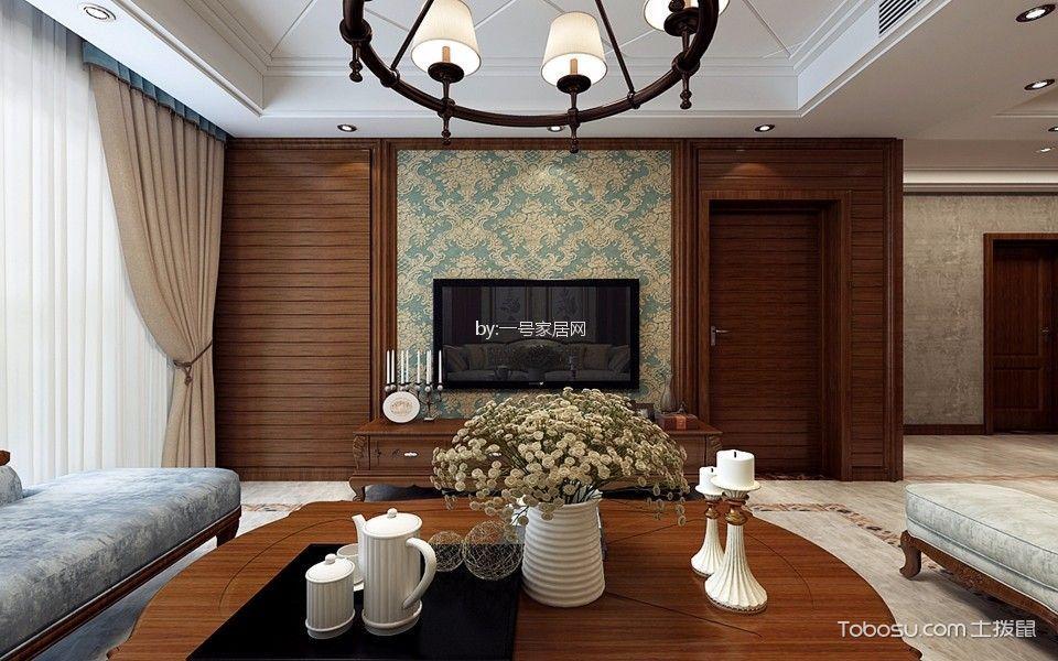 远大中央公园美式二房二厅温暖装修效果图