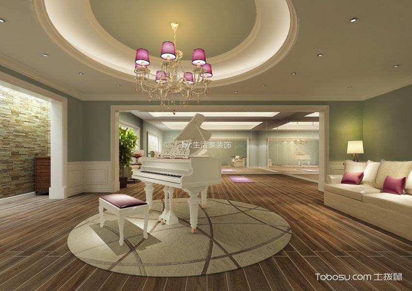 玄关米色门厅美式风格装潢设计图片