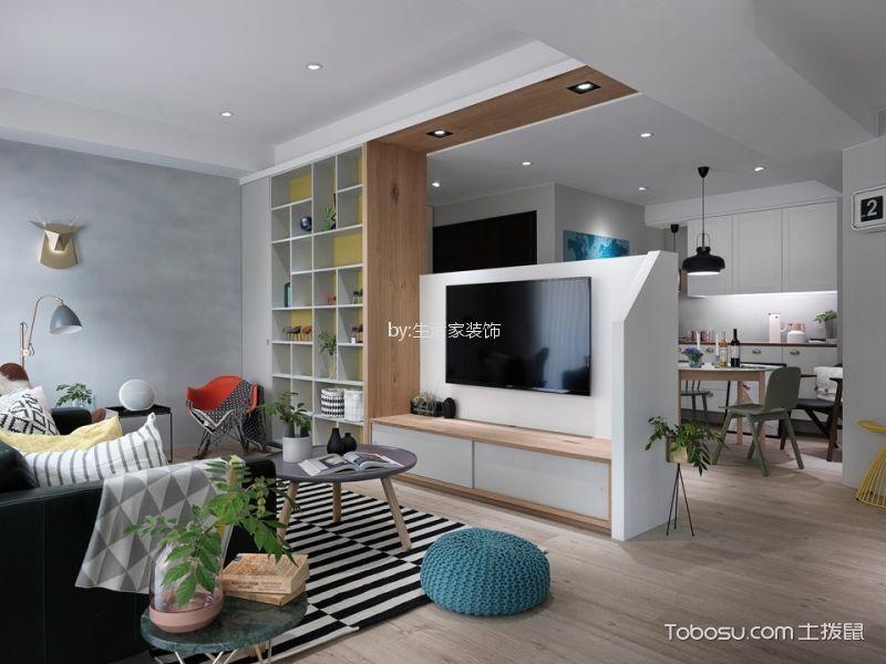 客厅 隔断_尚东花园北欧风格三居室装修效果图