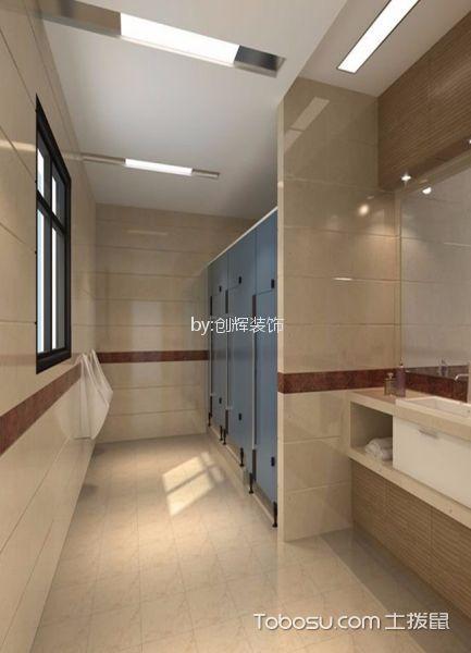 小型办公室卫生间地板砖装潢图片欣赏