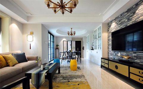 客厅走廊新中式风格装饰设计图片