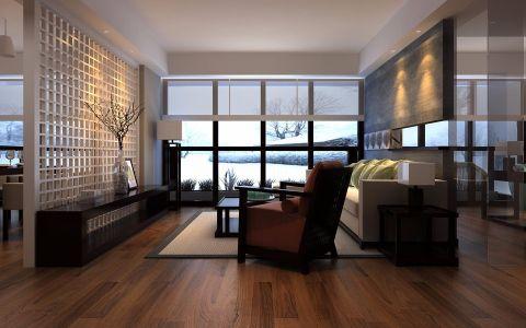 客厅隔断简约风格装饰图片