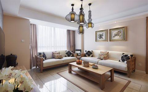 客厅背景墙新中式风格装修设计图片
