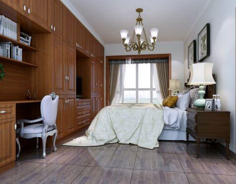 卧室书桌新中式风格装修设计图片