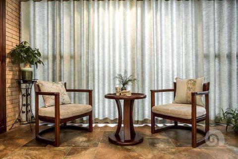 阳台沙发新中式风格装饰设计图片