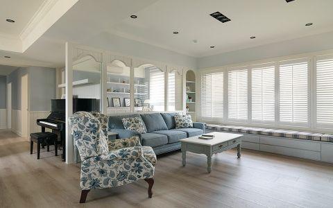 客厅隔断欧式田园风格装修设计图片