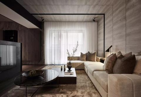 客厅吊顶北欧风格装饰设计图片
