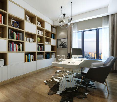 书房窗帘现代风格装潢设计图片