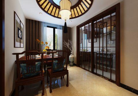 餐厅推拉门中式风格装潢效果图