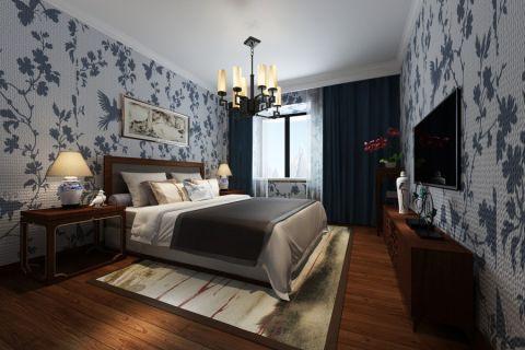 卧室电视柜中式风格装潢图片