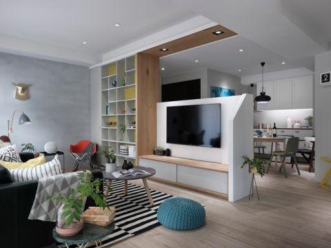 客厅隔断北欧风格装潢设计图片
