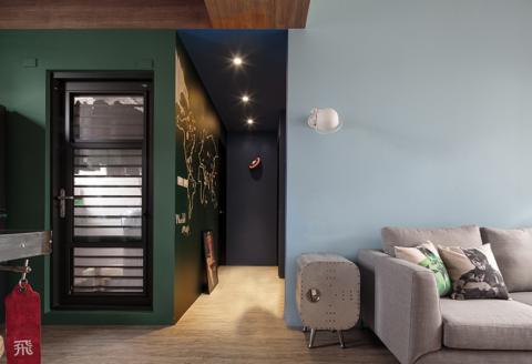 客厅走廊混搭风格装饰图片