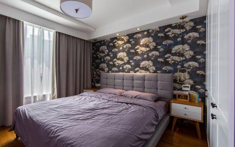 卧室窗帘现代风格装修设计图片