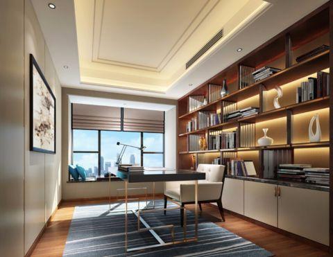 书房博古架现代简约风格装修效果图