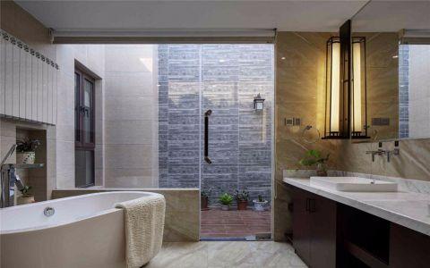 浴室浴缸新中式风格装修图片