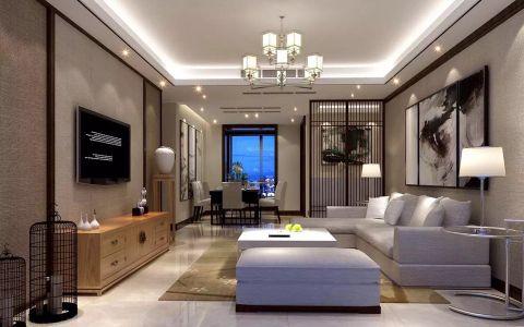 6.4万预算130平米三室两厅装修效果图