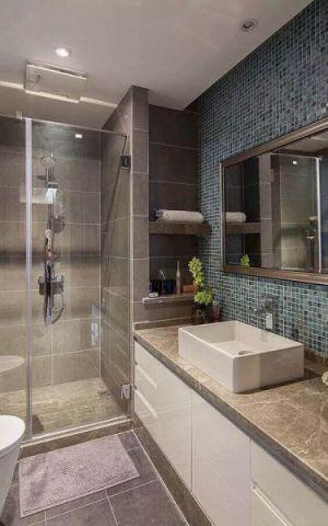 卫生间背景墙新中式风格装修效果图