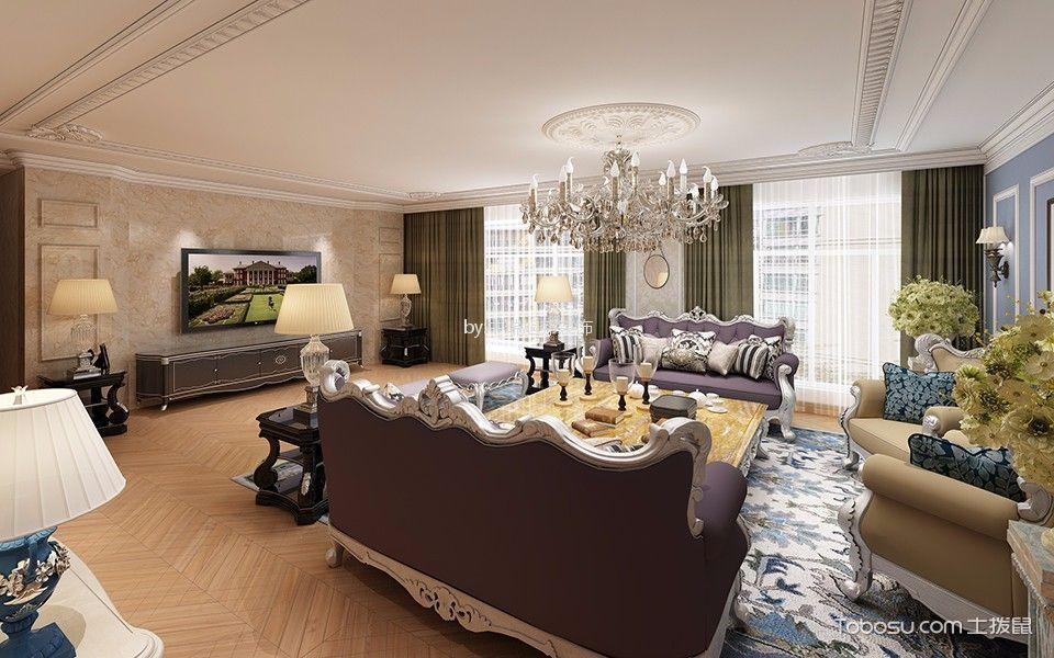 50万预算200平米四室两厅装修效果图