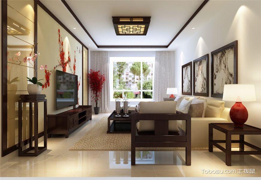 红星国际133平米中式风格两室两厅两卫装修设计效果图