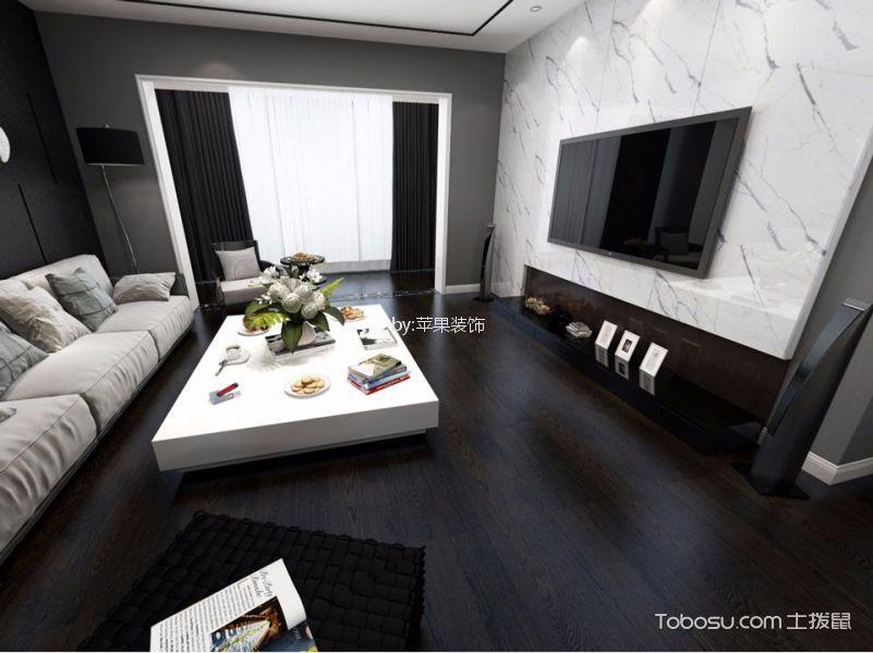 岳阳山水豪庭96平米现代简约风格效果图