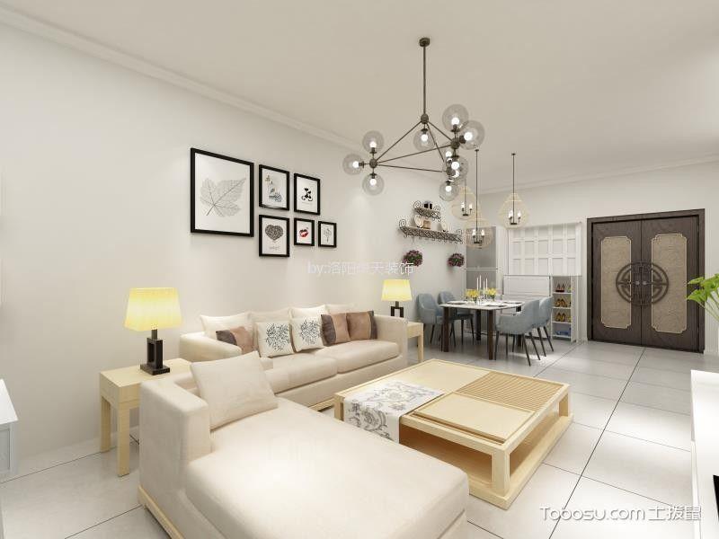5万预算110平米两室两厅装修效果图