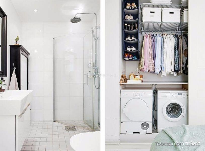 卫生间白色隔断北欧风格装潢设计图片