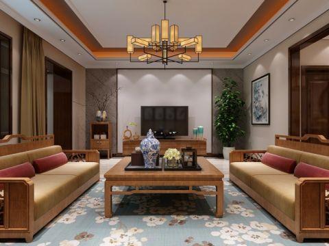 吉恒园别墅新中式风格效果图