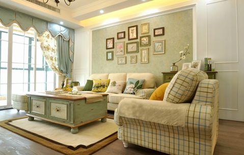 客厅窗帘田园风格装修效果图