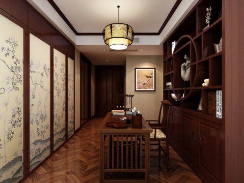 书房博古架中式风格装修效果图