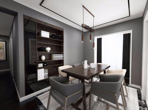 餐厅博古架现代简约风格装潢图片