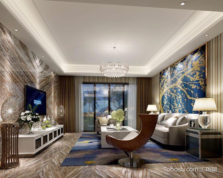金沙府邸100平米北欧风格三居室装修效果图