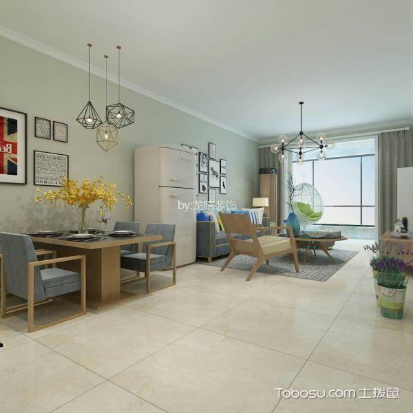 现代风格103平米两室两厅新房装修效果图