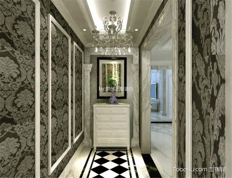玄关白色吊顶新古典风格装潢图片