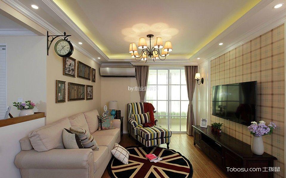 100平美式风格三居室装修效果图