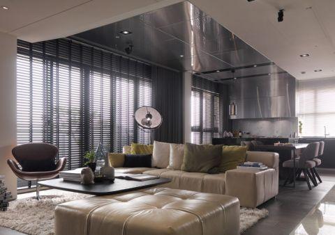 后现代120平方三居室效果图