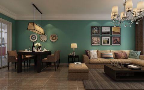 佳源巴黎都市100平三居室简约装修效果图