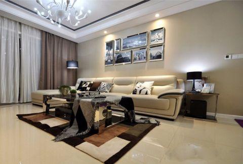客厅咖啡色窗帘室内效果图