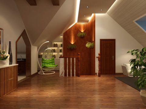 低调优雅中式咖啡色走廊效果图图片