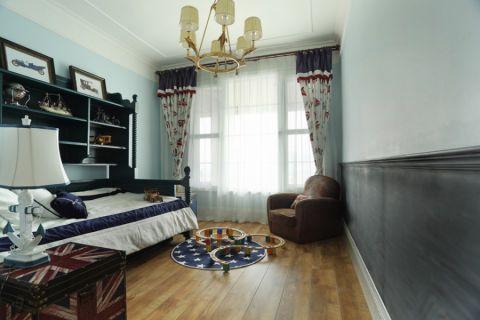 美式儿童房窗帘设计图欣赏