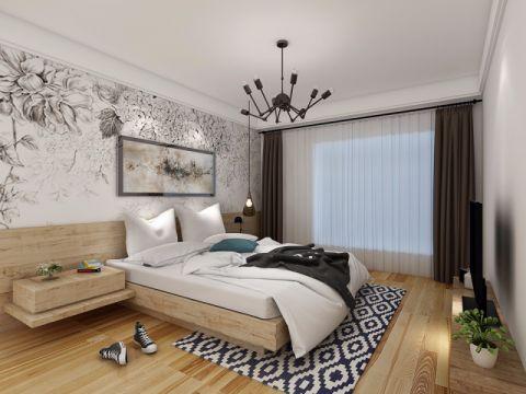 温暖卧室窗帘室内装修设计
