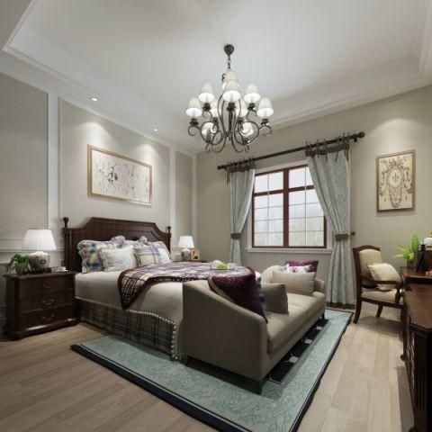 设计优雅咖啡色卧室构造图